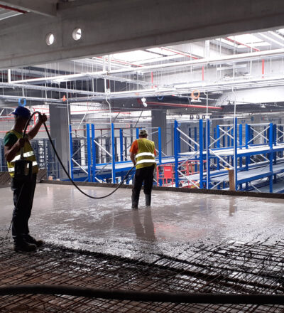 Amenajari interioare cladire birouri 1000 mp, turnare placi beton armate la 8 m-1